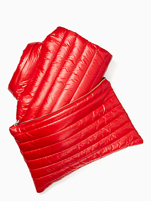 packable down jacket by kate spade new york hover view