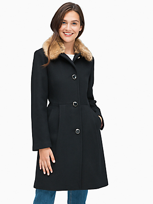 fit and flare coat by kate spade new york non-hover view