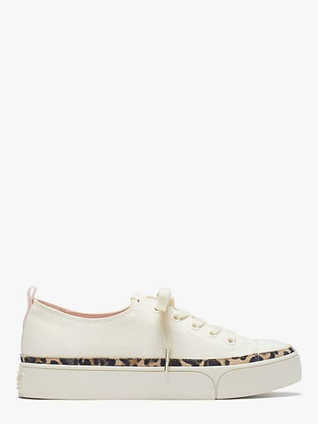 kaia sneakers, cream, large by kate spade new york