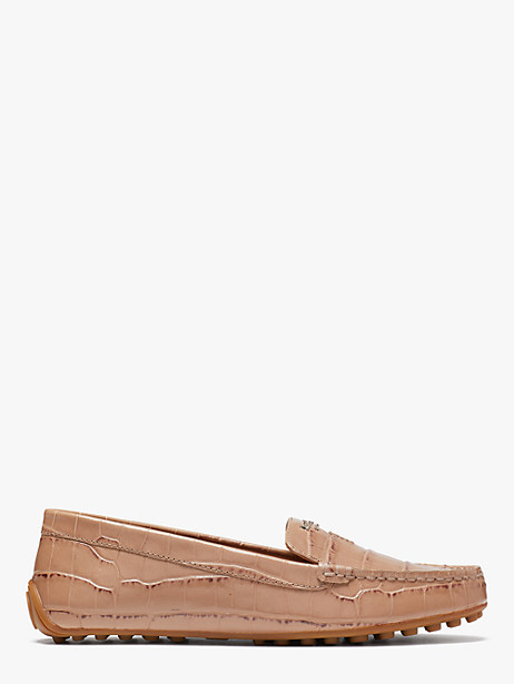 deck moccasins, latte, large by kate spade new york