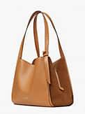 knott pebbled leather & suede large shoulder bag, , s7productThumbnail