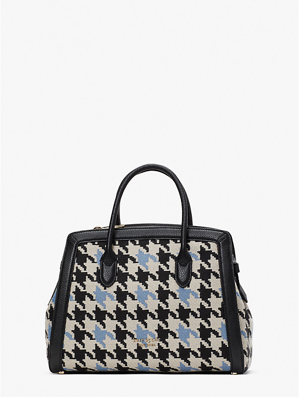knott houndstooth medium satchel, , rr_large