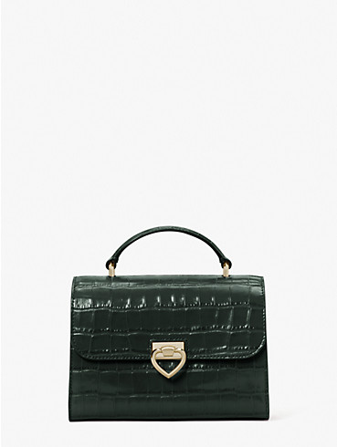 lovitt croc-embossed small top-handle bag, , rr_productgrid