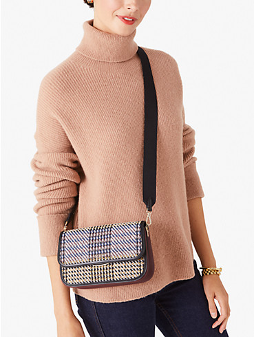 buddie plaid medium shoulder bag, , rr_productgrid