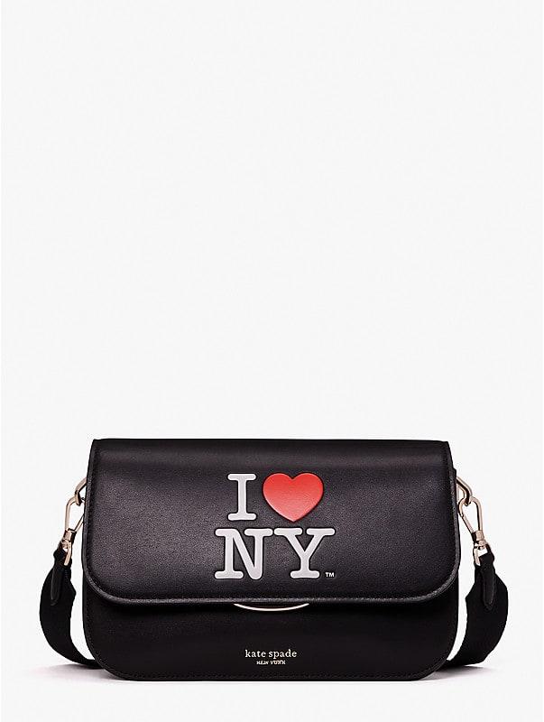 i heart ny x kate spade new york buddie medium shoulder bag, , rr_large