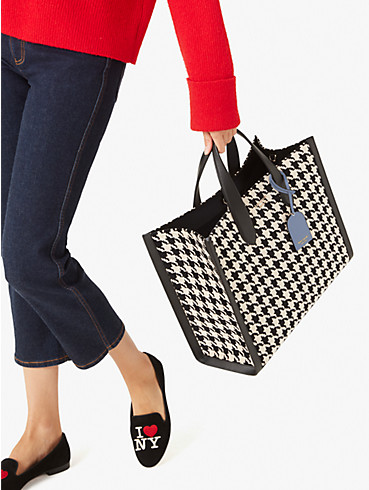 manhattan houndstooth large tote, , rr_productgrid