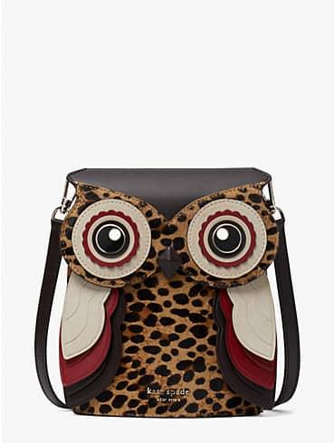 blinx leopard 3d owl crossbody, , rr_productgrid