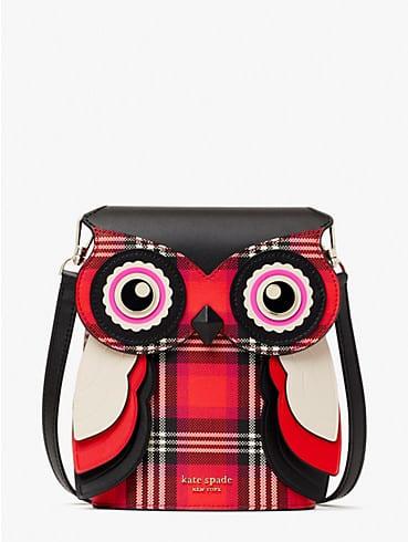blinx plaid 3d owl crossbody, , rr_productgrid