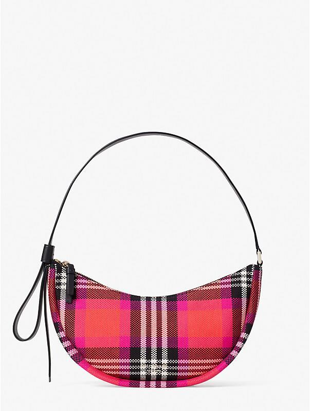 smile foliage plaid small shoulder bag, , rr_large