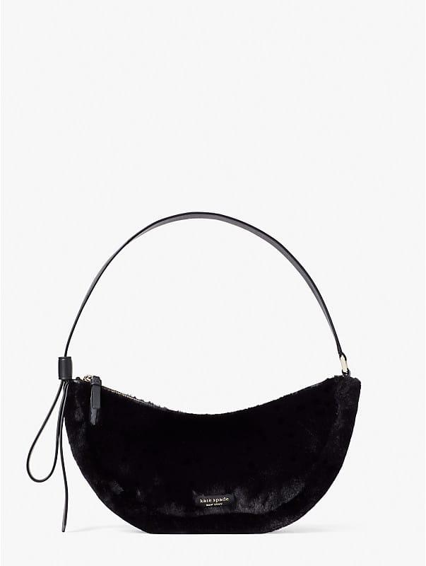 smile faux-fur small shoulder bag, , rr_large