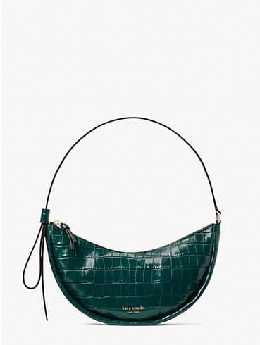 smile croc-embossed leather small shoulder bag, , rr_productgrid