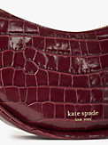 smile croc-embossed leather small shoulder bag, , s7productThumbnail