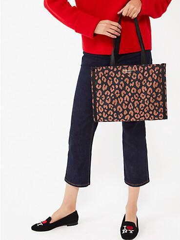 the little better sam leopard medium tote, , rr_productgrid