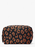 the little better everything puffy leopard jacquard large cosmetic case, , s7productThumbnail