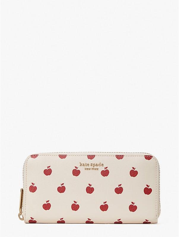 Spencer Apple Toss Portemonnaie mit Rundumreißverschluss, , rr_large