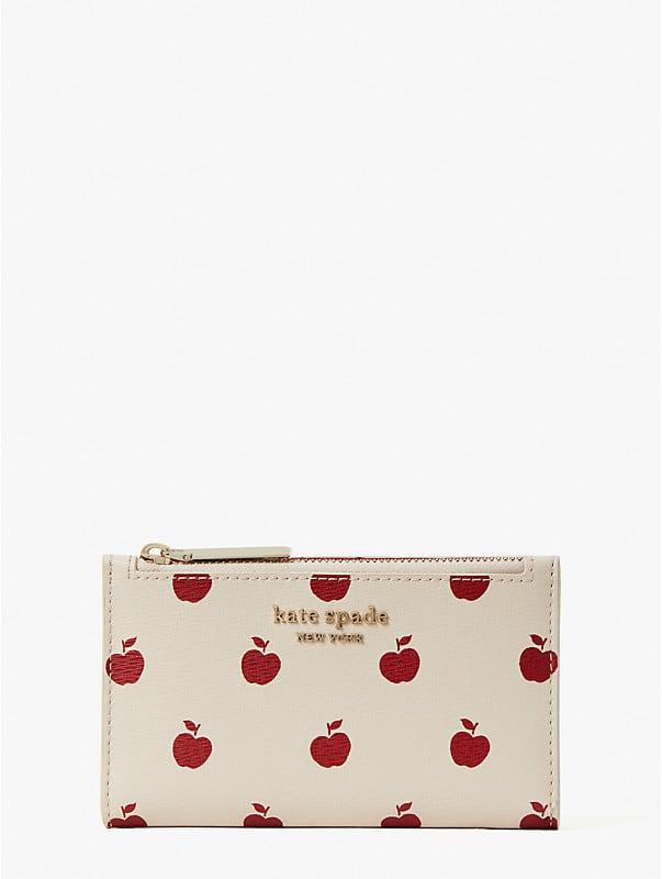 Spencer Apple Toss Klapp-Portemonnaie, schmal, klein, , rr_large