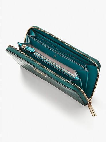 Spencer Portemonnaie aus Leder mit Krokoprägung mit Rundumreißverschluss, , rr_productgrid
