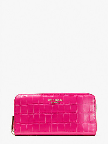 spencer croc-embossed leather zip-around continental wallet, , rr_productgrid