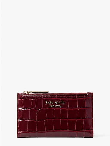 spencer croc-embossed leather small slim bifold wallet, , rr_productgrid