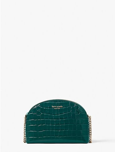 spencer croc-embossed leather double-zip dome crossbody, , rr_productgrid