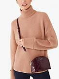 spencer croc-embossed leather double-zip dome crossbody, , s7productThumbnail