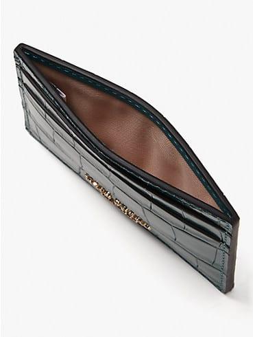 spencer croc-embossed leather cardholder, , rr_productgrid
