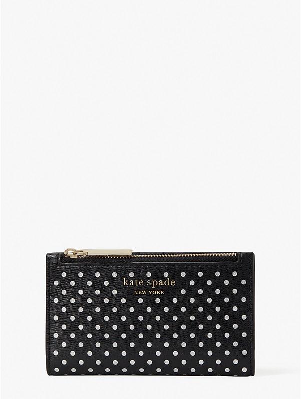 spencer metallic dot small slim bifold wallet, , rr_large