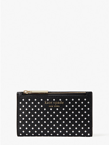 spencer metallic dot small slim bifold wallet, , rr_productgrid