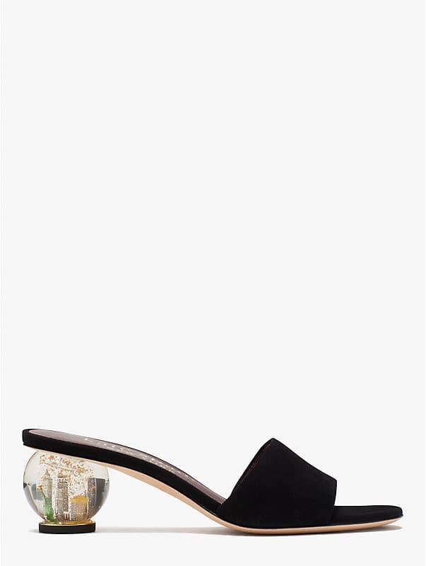 polished slide sandals, , rr_large