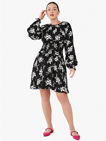 floral clusters fit-and-flare dress, , rr_productgrid