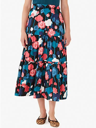 viney floral tiered skirt, , rr_productgrid