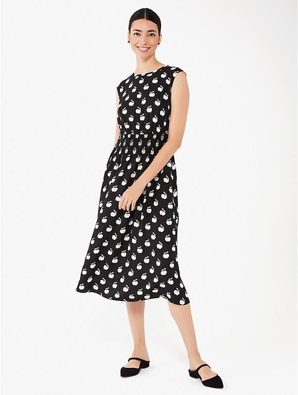 Apple Toss Kleid mit gesmokter Taille, , rr_large