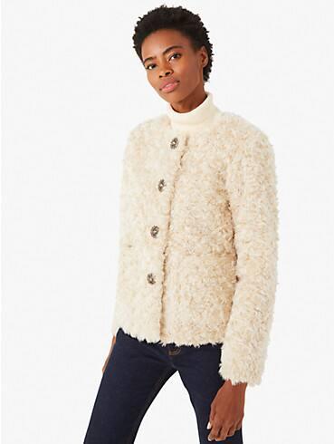 faux fur jewel-button jacket, , rr_productgrid