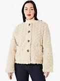 faux fur jewel-button jacket, , s7productThumbnail