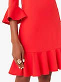 ponte flounce shift dress, , s7productThumbnail