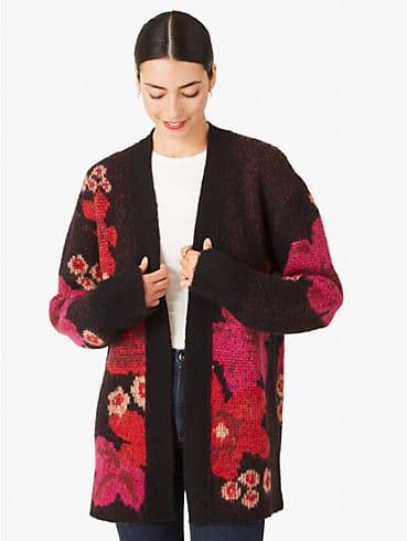 floral intarsia cardigan, , rr_productgrid