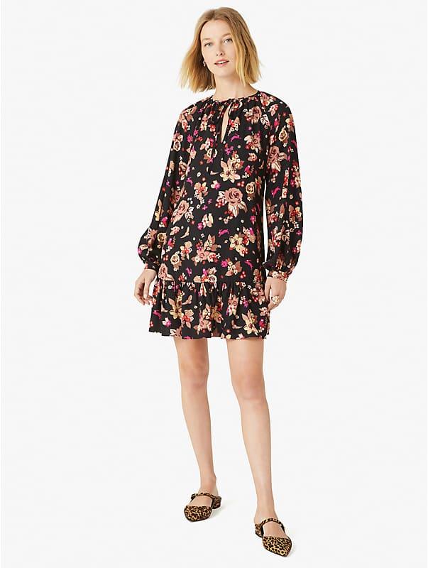 floral bouquet shift dress, , rr_large