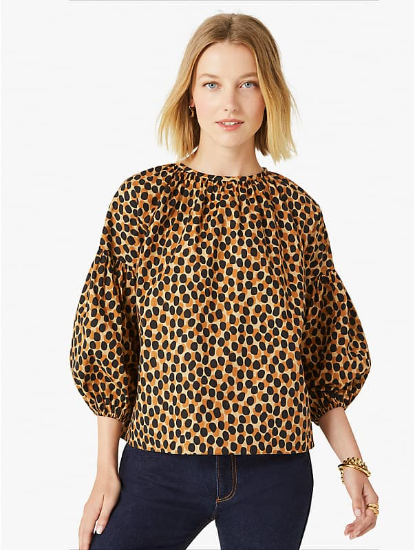 dotty leopard around town top, , rr_large