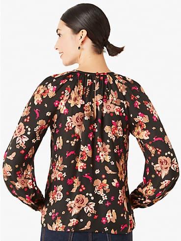 Floral Bouquet Top mit Schlüssellochausschnitt hinten, , rr_productgrid