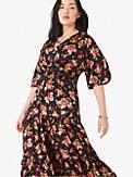 floral bouquet silk twill dress, , s7productThumbnail