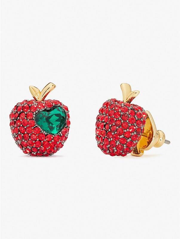 dashing beauty pavé apple studs, , rr_large