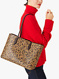 all day leopard large tote, , s7productThumbnail