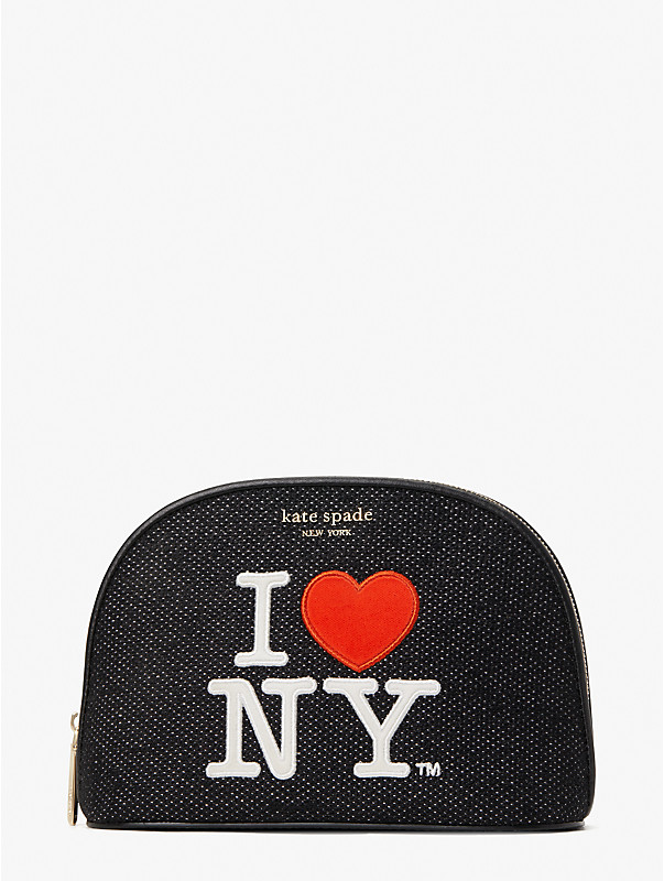 i heart ny x kate spade new york large dome cosmetic case, , rr_large