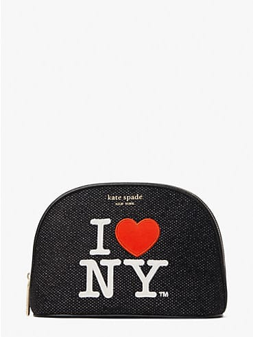 i heart ny x kate spade new york large dome cosmetic case, , rr_productgrid