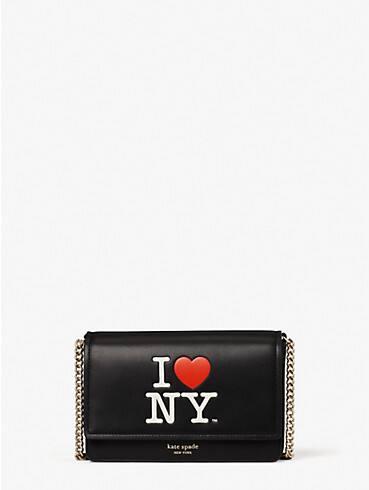I Heart NY x kate spade new york Portemonnaie mit Umschlag und Kettenriemen, , rr_productgrid