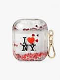 I Heart NY x kate spade new york Hülle für Airpods mit Glitzer in Flüssigkeit, , s7productThumbnail