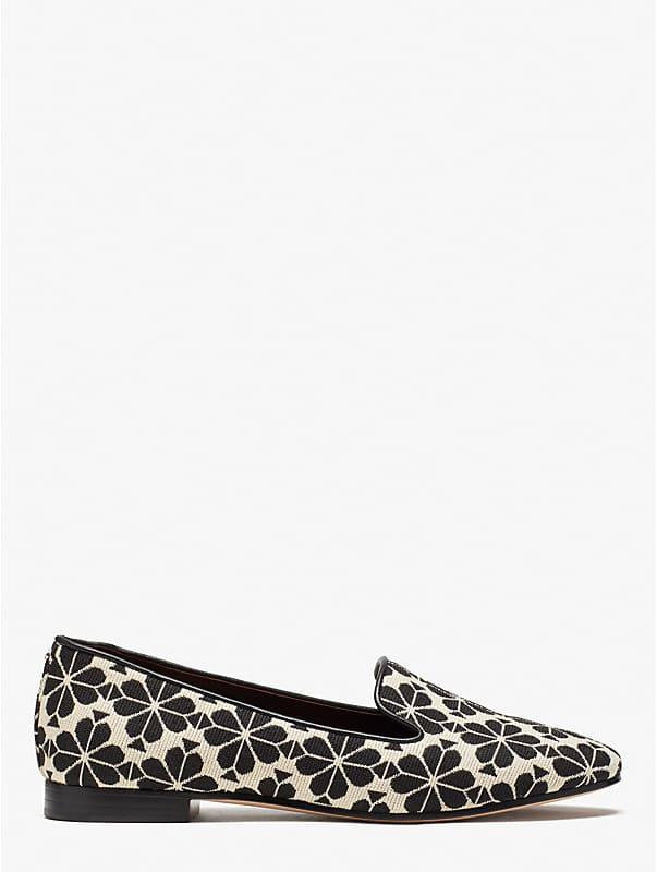 spade flower jacquard lounge loafers, , rr_large