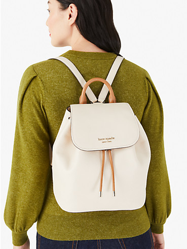 sinch pebbled leather medium flap backpack, , rr_productgrid