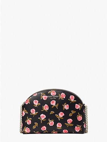 spencer ditsy rose double-zip dome crossbody, , rr_productgrid