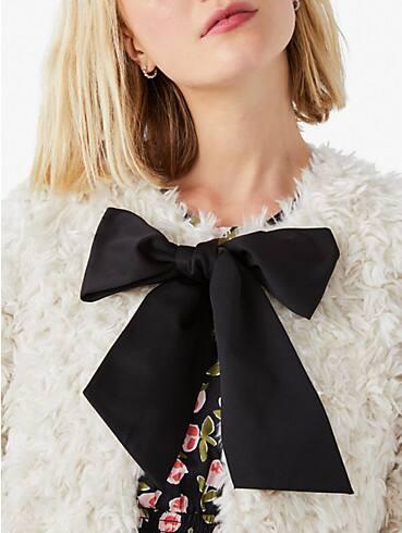 faux fur tie-neck coat, , rr_productgrid